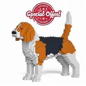 Beagle Dog Figure Sculpture Kits Made Of Lego Style