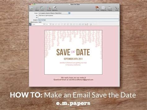 save the date email template diy wedding save the date email how to e m papers