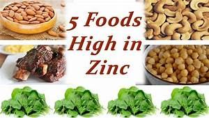 Top Five Foods High in Zinc - YouTube
