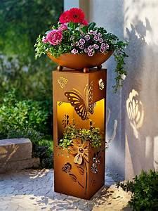 Beleuchtung Pflanzen Led : pflanzs ule butterfly mit led beleuchtung bestellen ~ A.2002-acura-tl-radio.info Haus und Dekorationen