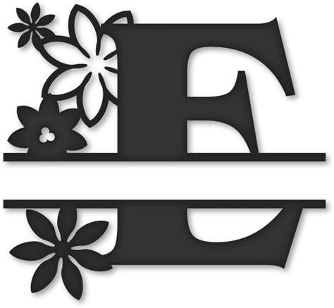 flower split monogram  split letter  monogram  transparent png  pngkey