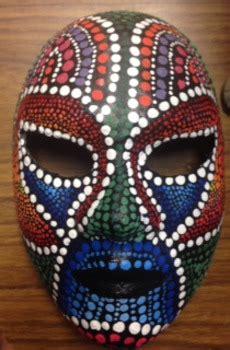 high school art aboriginal mask lesson  high school