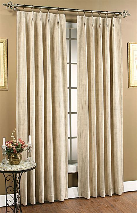 pinch pleated drapes tuscan pinch pleat foam back panel pair beige