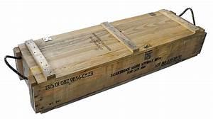 Military Surplus Ammo Crate, Wood w/ Rope Handles