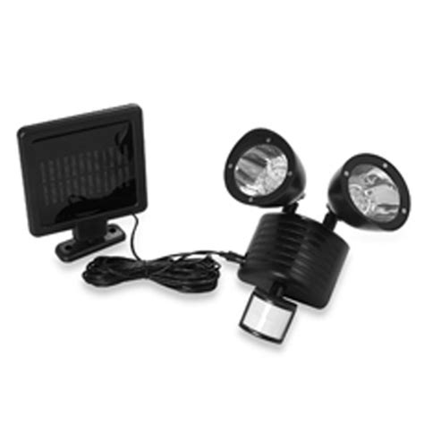 22 led dual solar motion sensor security light