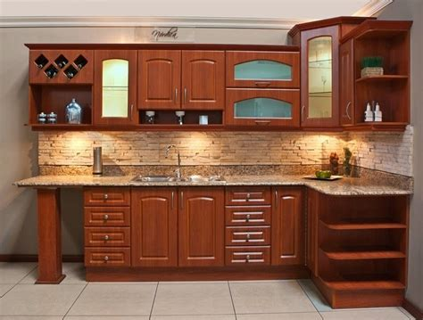 cocina integral madera escuadra diseno residencial