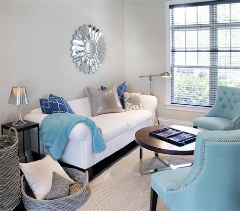 Blue And Silver Living Room by Gray Amp Turquoise Blue Modern Living Room Design With