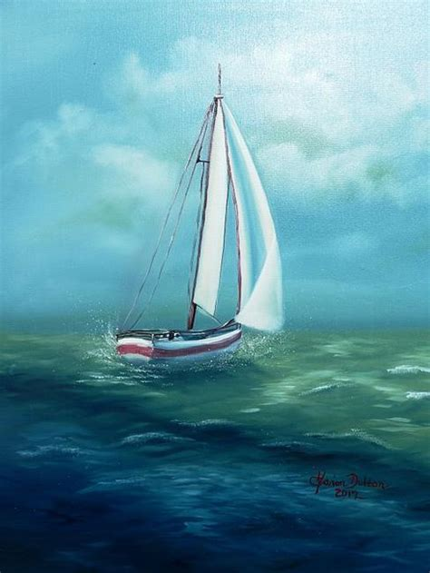 Sailboat At Sea by Cls036 Sailboat At Sea 2 By Marion Dutton From