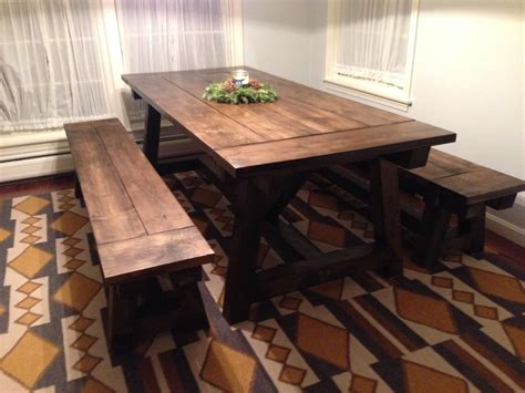 farmhouse kitchen table with bench the simple farmhouse dining table designwalls