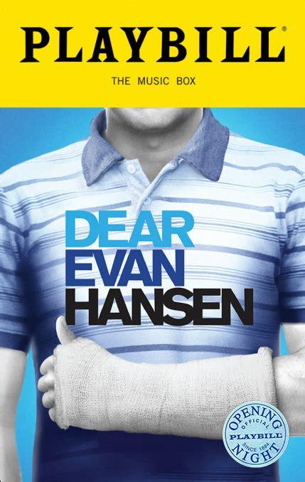 dear evan hansen  broadway musical limited edition