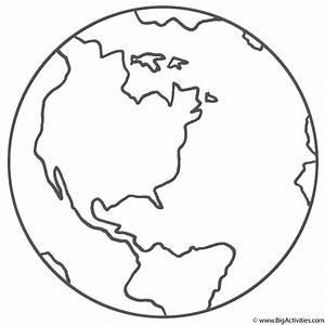 Planet Earth With Title Coloring Page Space