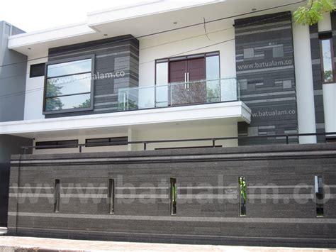 gambar batu alam  dinding lantai pagar rumah