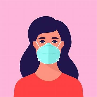 Mask Wearing Face Woman Medical Wear Clip