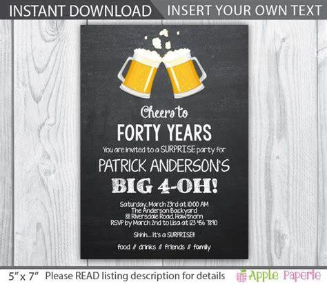 40th birthday invitation / 40th birthday invitation for