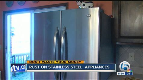 rust stainless steel appliances