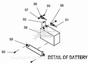 Generac 0059410  Gp6500e  Parts Diagram For Battery Detail