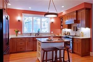decoration, traditional, orange, kitchen, small