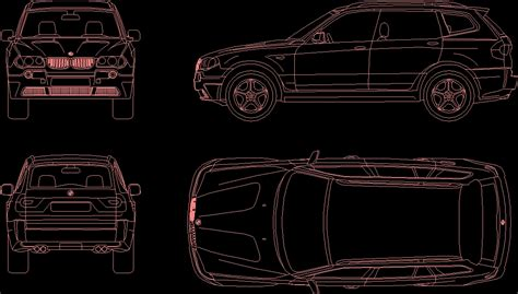 Car Model Bmw X3 Car Dwg Model For Autocad • Designs Cad