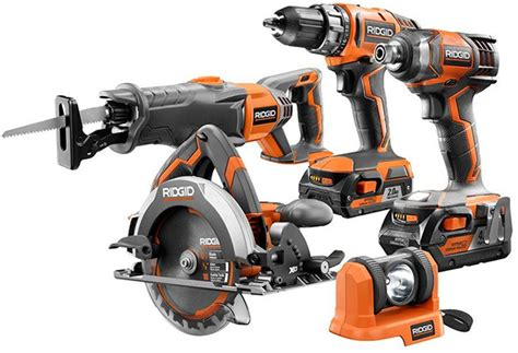 deal   day ridgid pc  cordless power tool combo