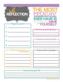 Reflection Worksheet Self Reflection Worksheets Images