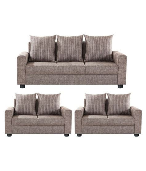 3 2 1 Sofa Set by Gioteak Fabric 3 1 1 Brown Sofa Set Best Price In India