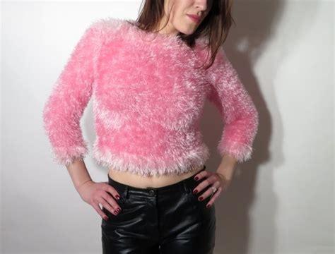 Vintage Pink Fluffy Sweater