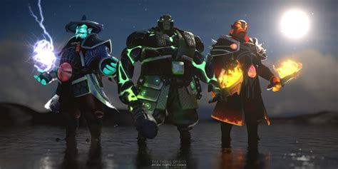 Raijin, Kaolin and Xin : DotA2