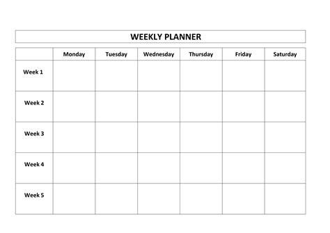 template printable calendar  weeks  calendar