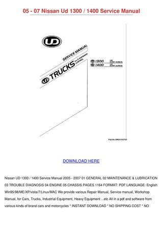 small engine repair manuals free download 2007 nissan versa spare parts catalogs 05 07 nissan ud 1300 1400 service manual by kaylajanssen issuu