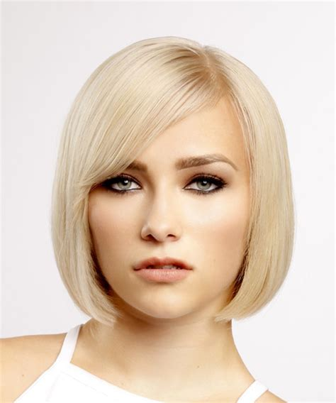 Bob Hairstyle With Side Fringe by Formal Bob Hairstyle With Side Swept Bangs