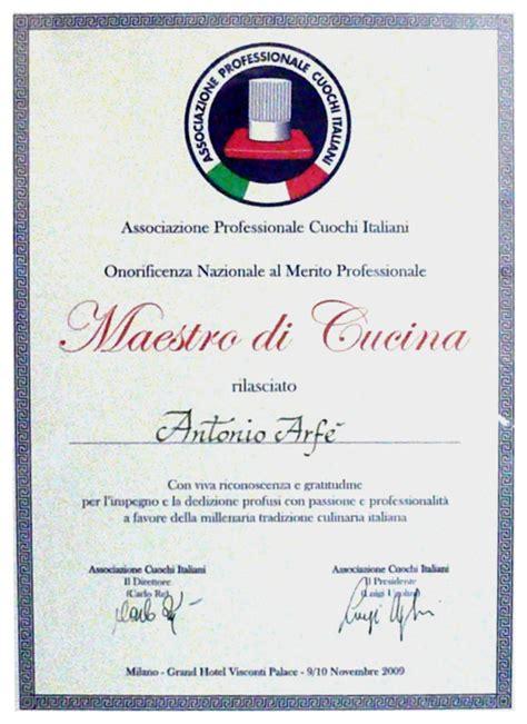 diploma di cucina lo chef gastronomia arf 232