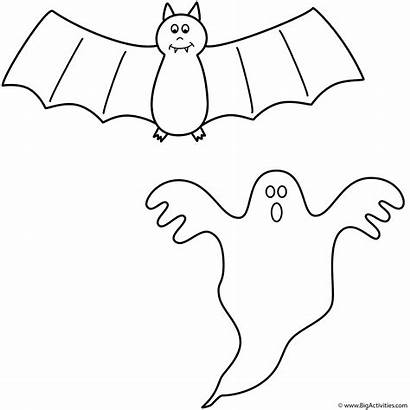 Halloween Bat Coloring Pages Bats Ghost Bratz