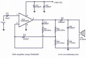 U0026gt 10w Amplifier Using Tda2003