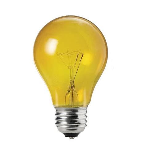 philips 25w 120v a shape a19 transparent yellow