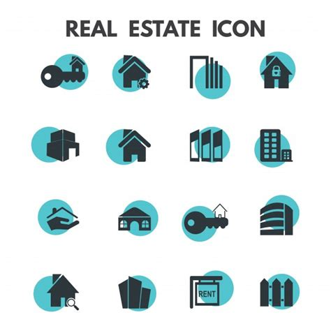 Free Vector | Real estate icons
