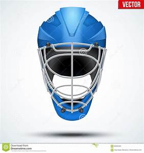 floorball and floor hockey helmet stock vector image With floor hockey helmet