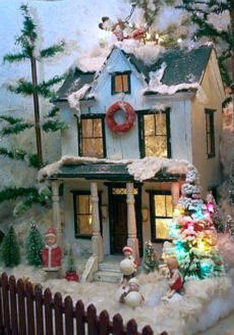 christmas dollhouses images  pinterest