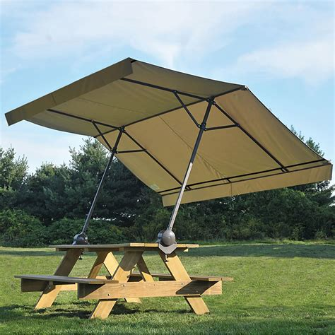 table canape the cl on picnic table canopy hammacher schlemmer