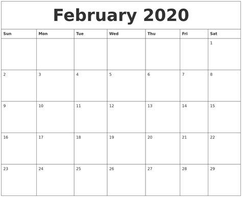 blank february calendar printable february blank monthly