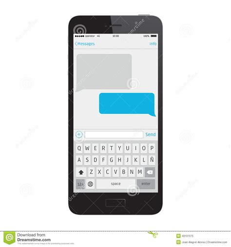 Sms Template Iphone by Phone Message Template Stock Vector Illustration Of