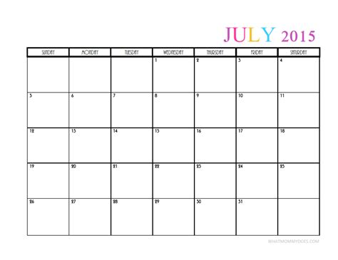 monthly calendar templates whatmommydoes