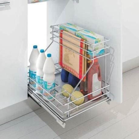 la cuisine du panier panier coulissant aménagement sous évier accessoires de