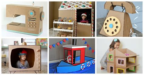 cardboard box crafts  kids  love  play