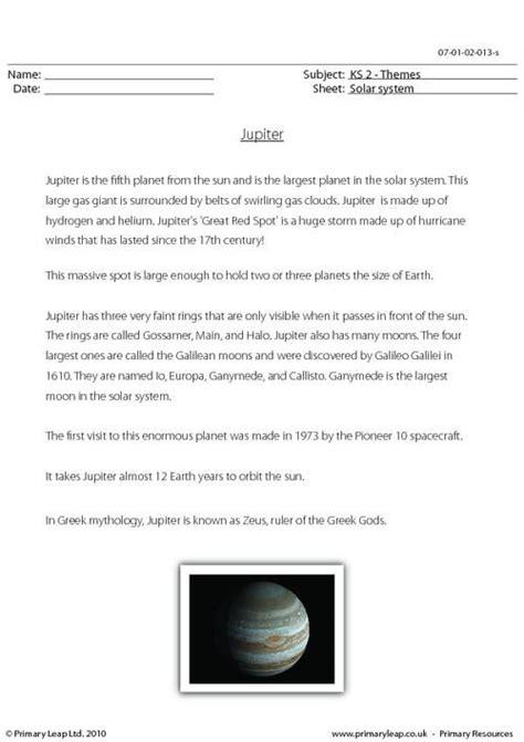 jupiter planet worksheet primaryleap co uk jupiter comprehension worksheet