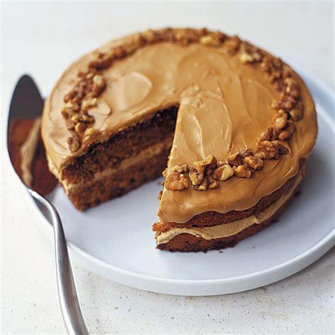 coffee  walnut cake  traditional british cake