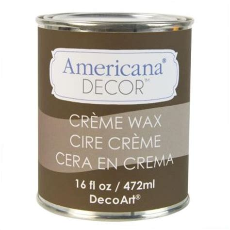 Americana Decor Creme Wax Brown by Decoart Americana Decor 16 Oz Brown Creme Wax Adm07