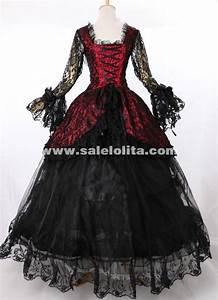 18th Century Victorian Schwarz Masquerade Gown