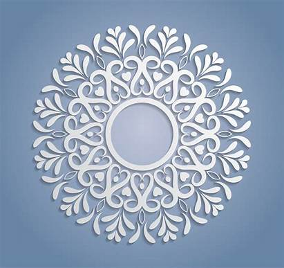 Lace Circle Vector Doily Paper Cutout Round