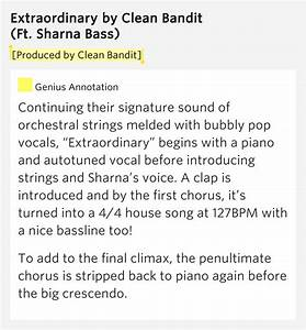 [Produced by Clean Bandit] – Extraordinary by Clean Bandit