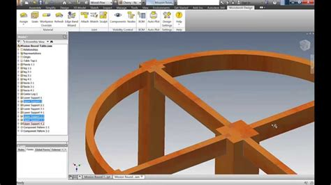 mission furniture autodesk inventor woodworking youtube